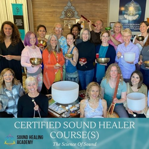 Sound HEaling Academy Graduates at the om shoppe and spa