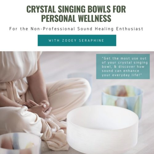 personal wellness class for crystal singing bowls