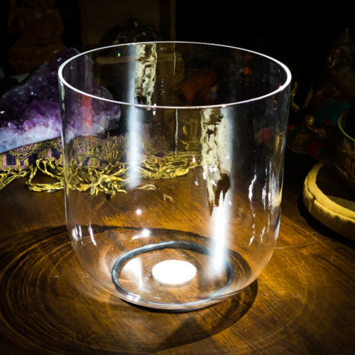 Clear Crystal Singing Bowl