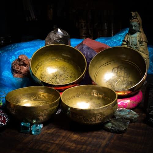 "6"" hand engraved hand hammered tibeatn singing bowl"