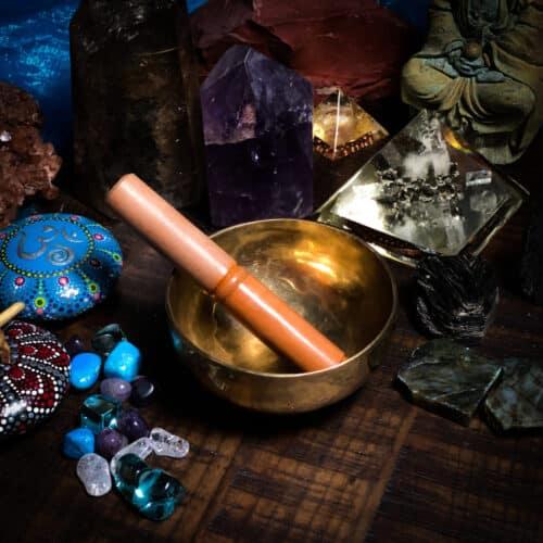 "5"" hand hammered tibetan bowl"
