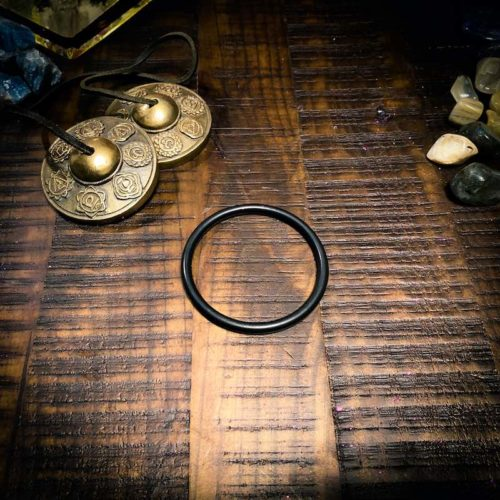 Small Black O-ring for frosted Crystal Singing Bowl