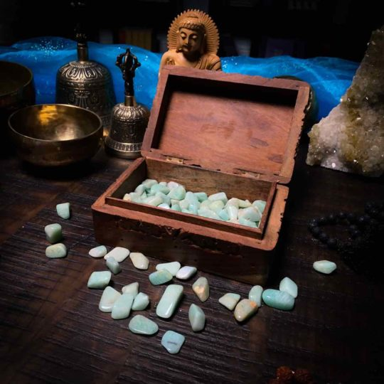 Small Amazonite tumbled for courage