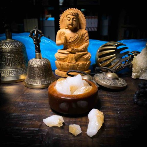 Citrine Point Crystal for Meditation