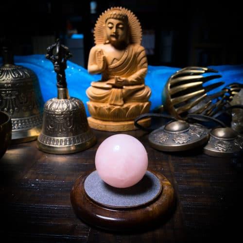 Rose Quartz Sphere for meditation