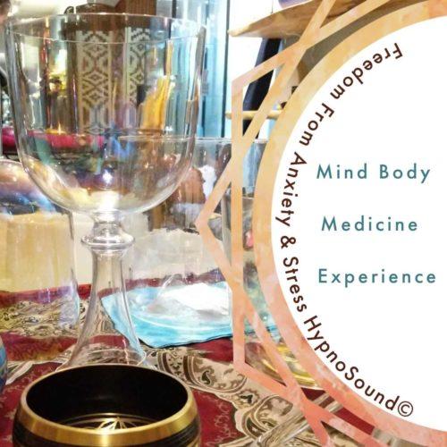 sound healing instruments with the words mind body medicine music hypnosoud the om shope