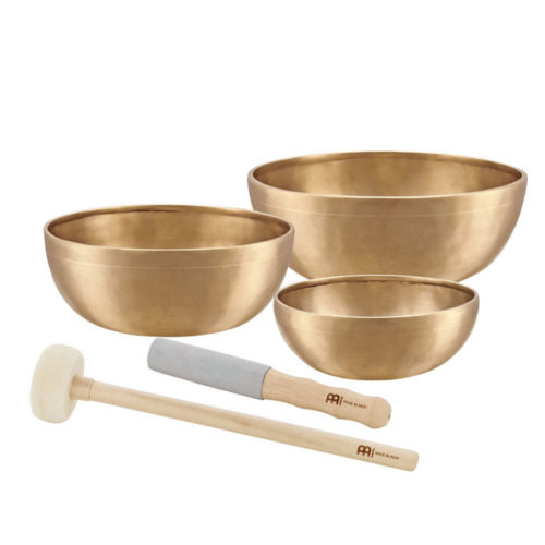 The MEINL Singing Bowls: Singing Bowls Set - ENERGY SERIES (3 bowl set, 6.4 - 9 inch)