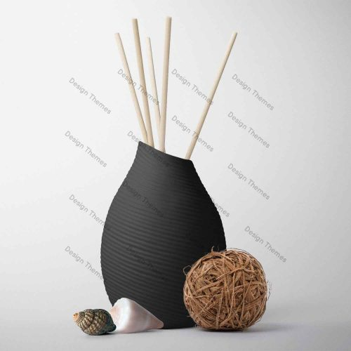 black vase decor