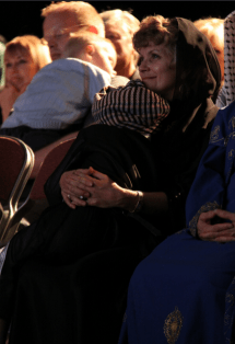 Mary Young Holding Her Son Josef at The One Gift Premiere