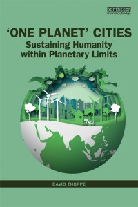 Cover of One Planet Cities book by David Thorpe