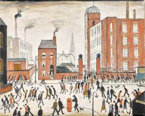 L.S. Lowry painting The Rush