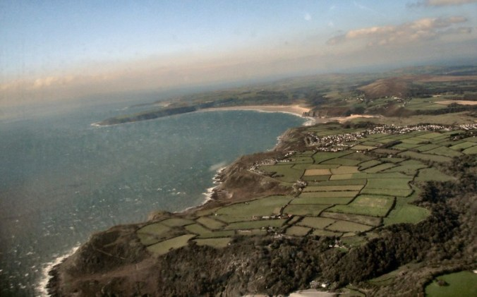 Gower Peninsular from the air