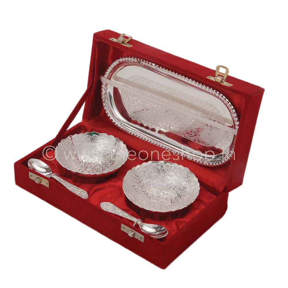 Chrome Plated Gift Set (Silver) - The One Shop - Return Gifts and More