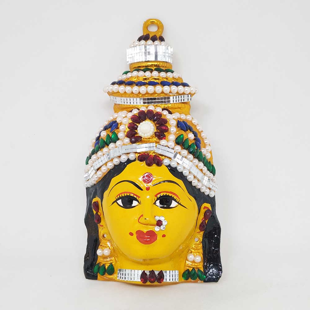 Goddess Lakshmi Face Small - Colour Stone - The One Shop - Return Gifts and  More