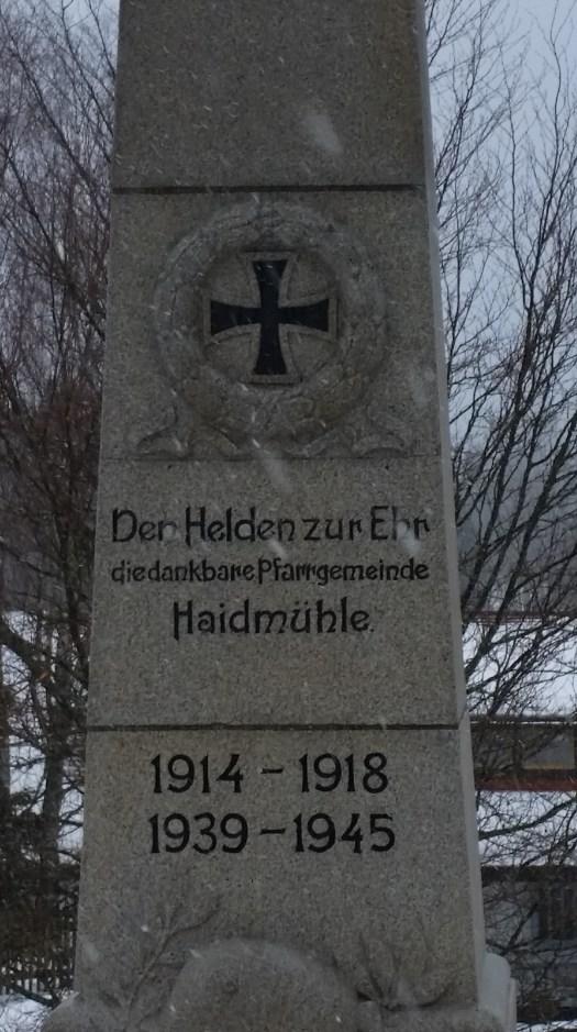 """Kriegerdenkmal"" in Haidmühle"