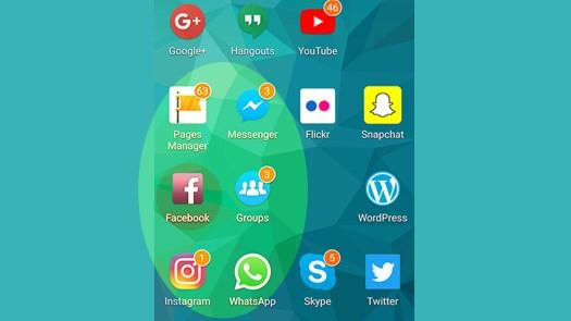 Social Media Apps auf dem Handy