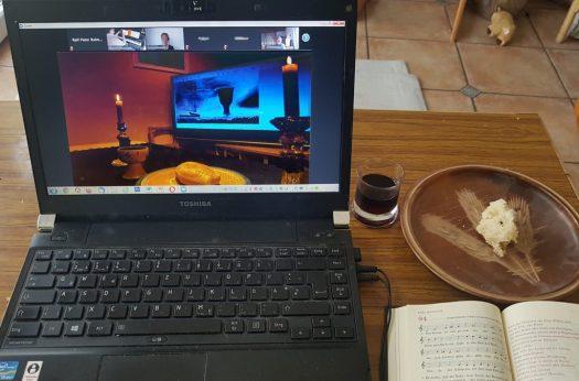 Online-Abendmahl (Fotomontage)