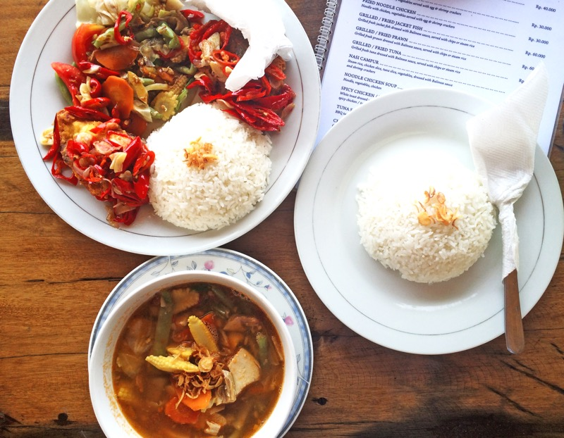 Local food in Ceningan island Bali.