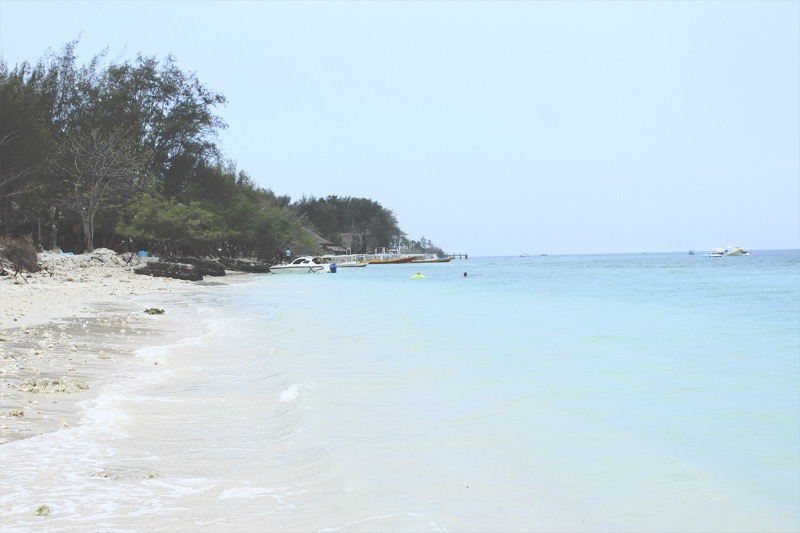 White sand beach at Gili Meno