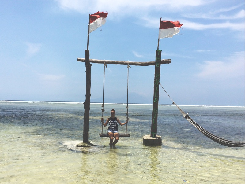 Swing and hammock at Gili Trawangan