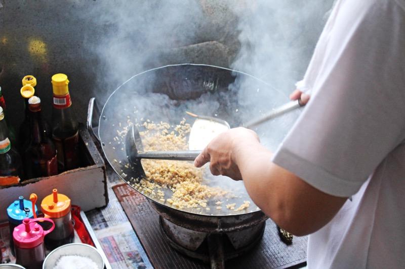 Nasi goreng cooking