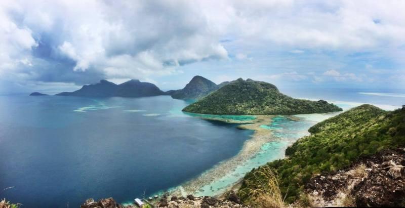 Bohey Dulang island view