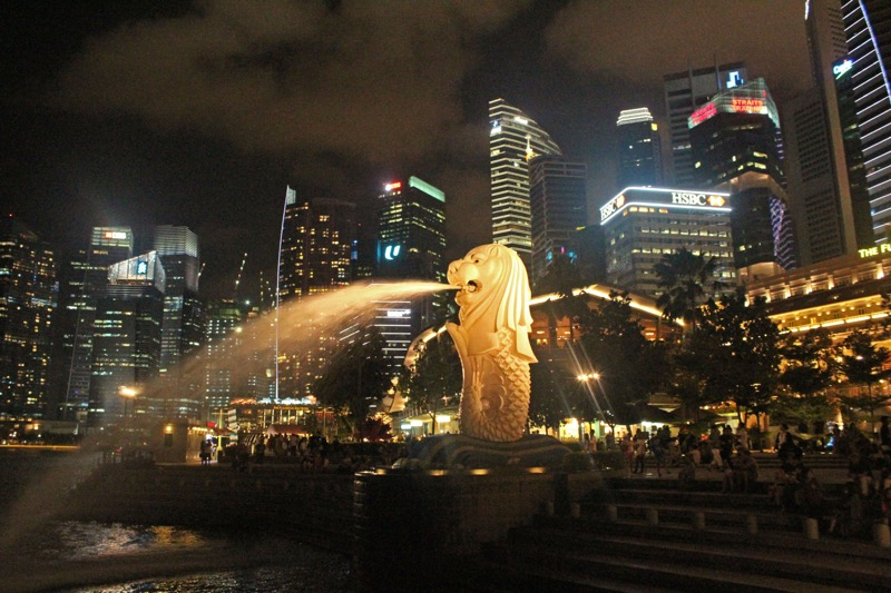 One of the 8 Merlions in Singapore
