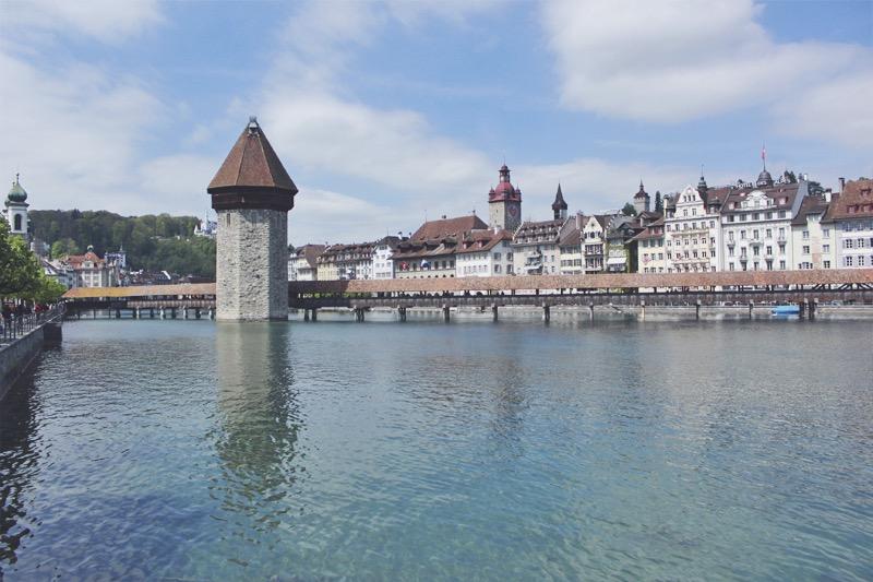 Kapelbrucke Luzern Švajčiarsko
