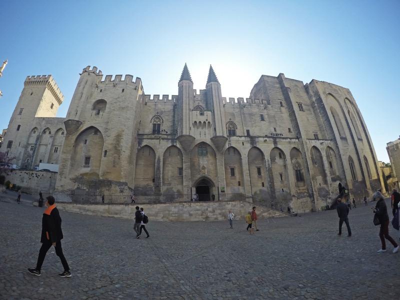 Pápežský palác Avignon Provensálsko