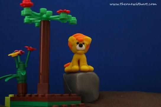 baby lion lego story 4