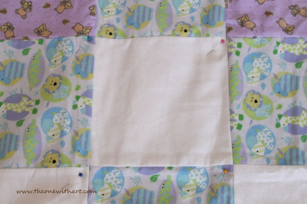 Nursery - Part 6: Baby Crib Quilt and Pillow (3/6)