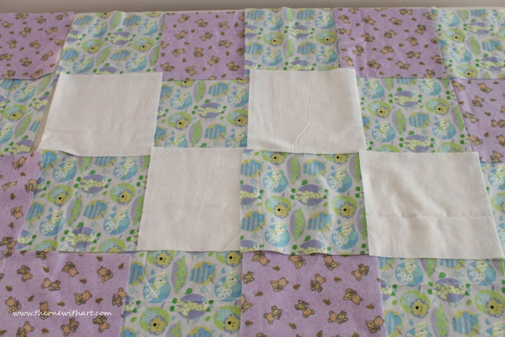 Nursery - Part 6: Baby Crib Quilt and Pillow (2/6)