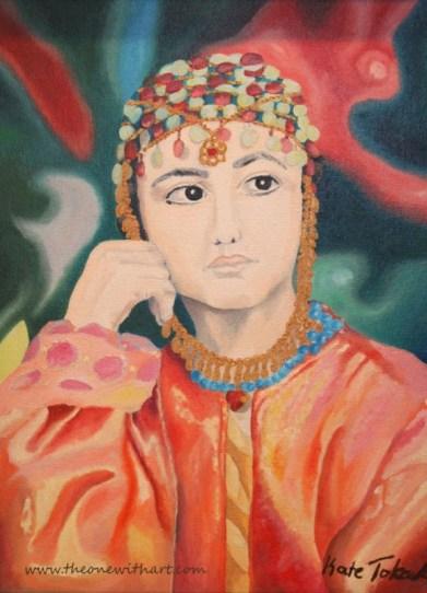 Kurdish girl logo