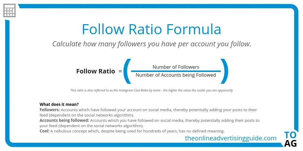 Follow Ratio | The Online Advertising Guide