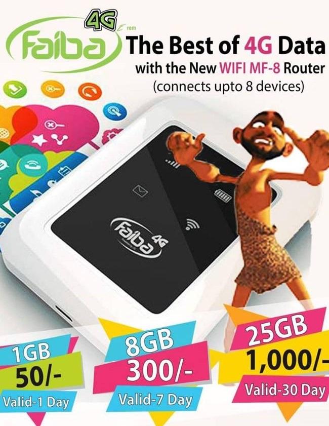 Faiba 4G cheap Internet for Online Writing