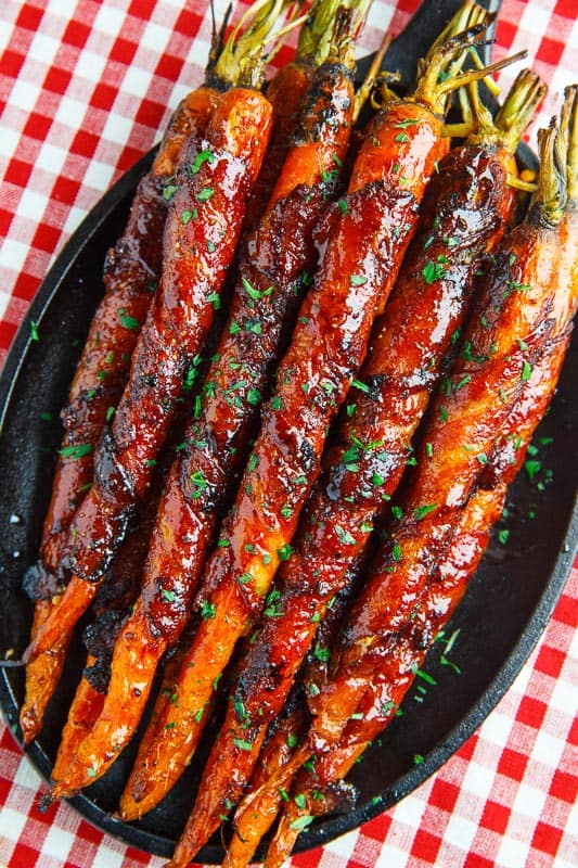 Maple-Bacon-Wrapped-Roasted-Carrots