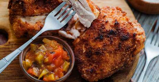 almond flour fried chicken
