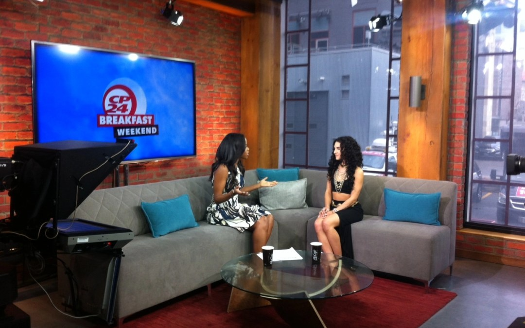Alexandria on CP24's Breakfast show – April 2015