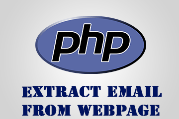 Extract Email addresses from a webpage – PHP Script!