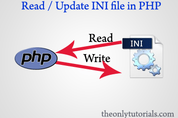 Read and Update Config file (INI File) in PHP