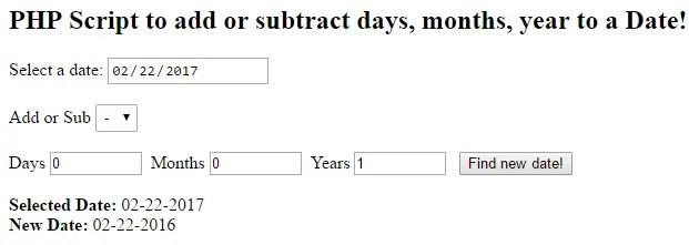 php-add-days-months-year