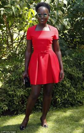 lupita Nyong in red - the only way is ghana