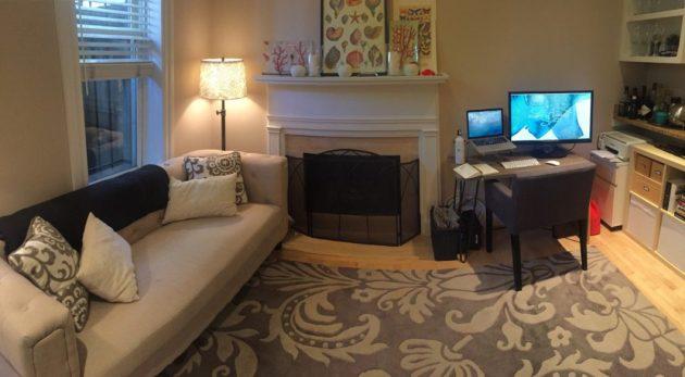 Neeley's exceedingly organized home office.