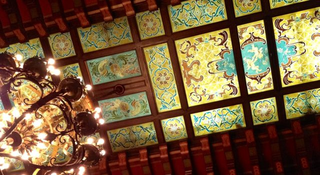 Ceiling of The Peabody Hotel