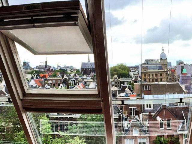 Amsterdam hotel view