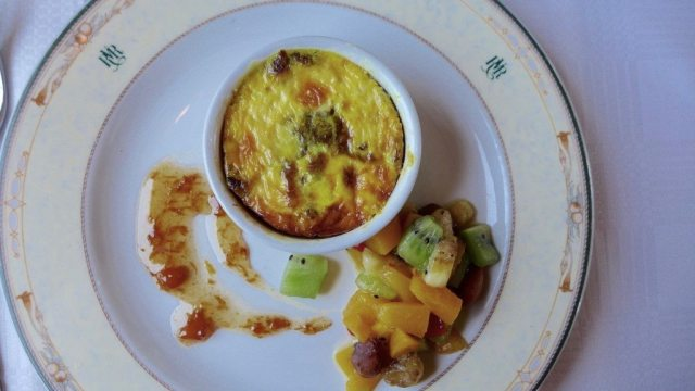 bobotie south african meal on luxury train travel and described in rovos rail review