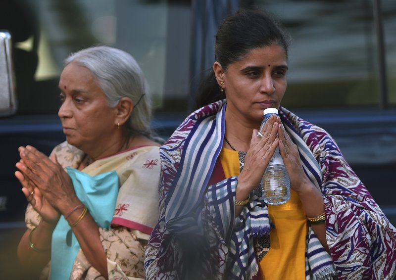wife and mother of Jadhav-ap