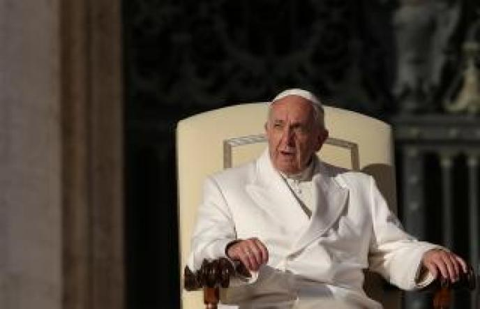 Pope Francis leads his Wednesday general audience in Saint Peter's square at the Vatican