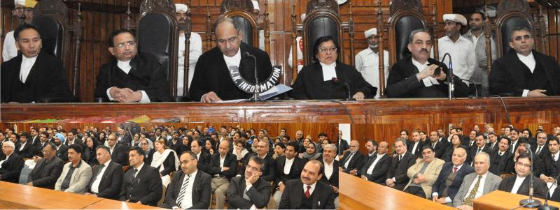 Justice MK Hanjura accorded farewell-jkinf
