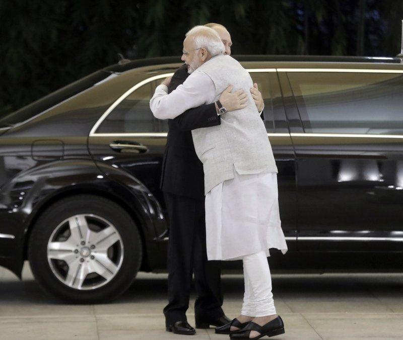 President of Russia Putin & Modi-AP